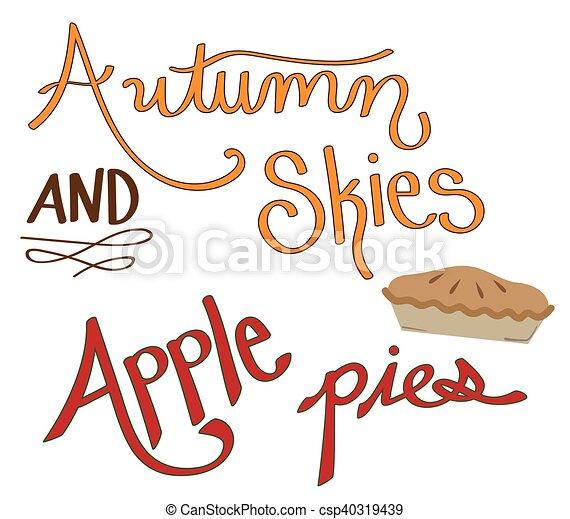 Autumn Skies Apple Pies - csp40319439