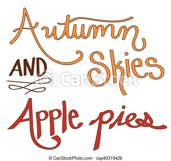 Autumn Skies Apple Pies - csp40319426