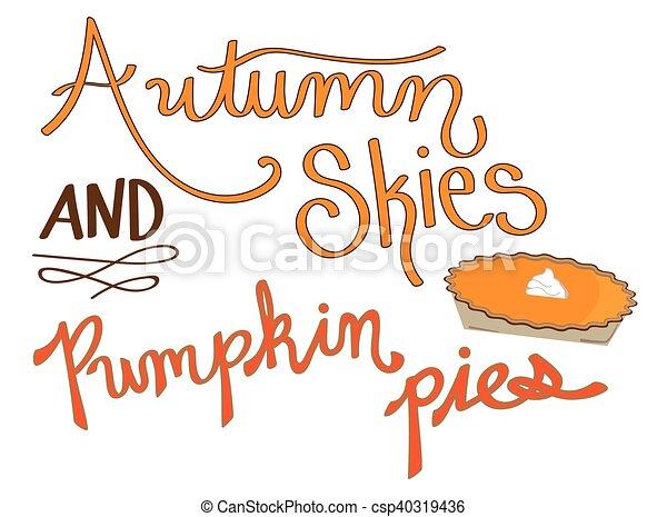 Autumn Skies Pumpkin Pies - csp40319436