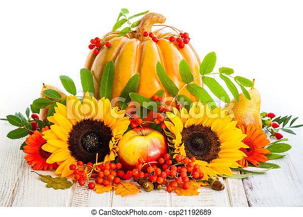 Autumn still life  - csp21192689