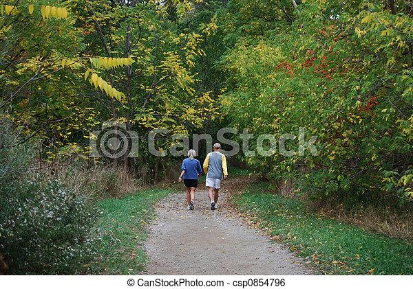 Autumn Stroll - csp0854796