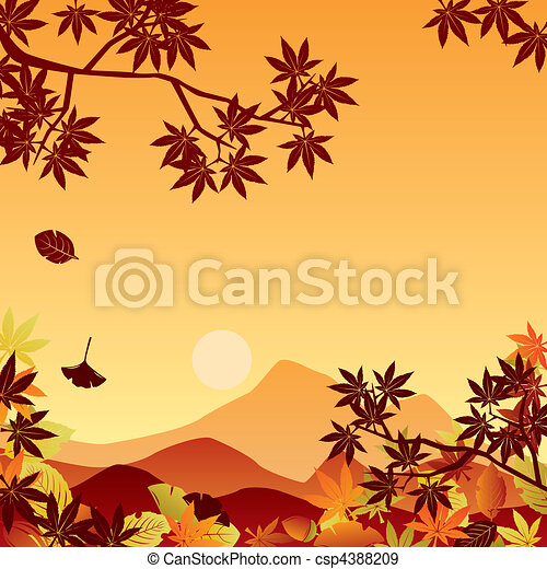 Autumn sunset - csp4388209