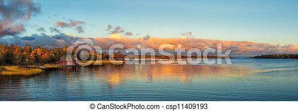 Autumn Sunset - csp11409193