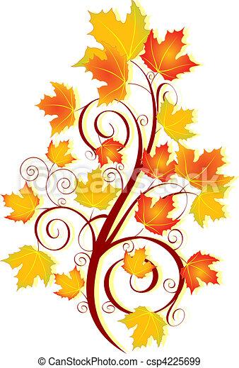 Autumn swirl - csp4225699