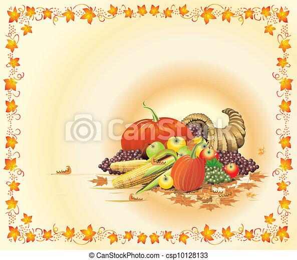 Autumn Thanksgiving Template - csp10128133