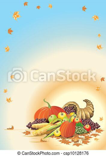 Autumn Thanksgiving Template - csp10128176