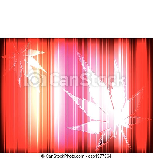 Autumn theme with chestnut leaves reddish vector background - csp4377364