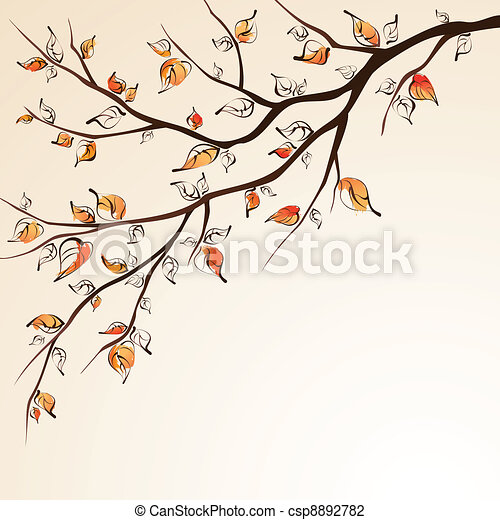 Autumn tree branch. - csp8892782