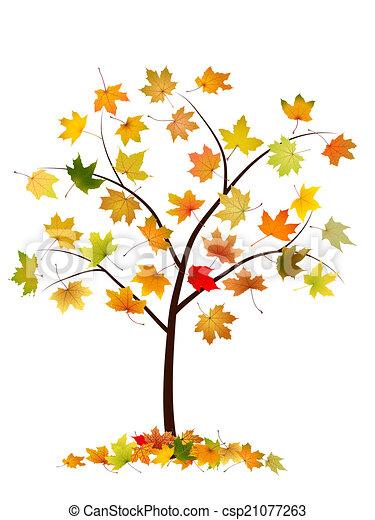 autumn tree with maple leaves vector illustration clip art vector rh canstockphoto com autumn tree clipart black and white autumn tree clipart png