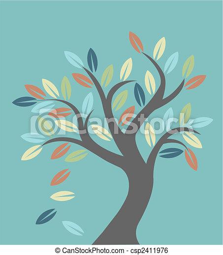 Autumn tree - csp2411976