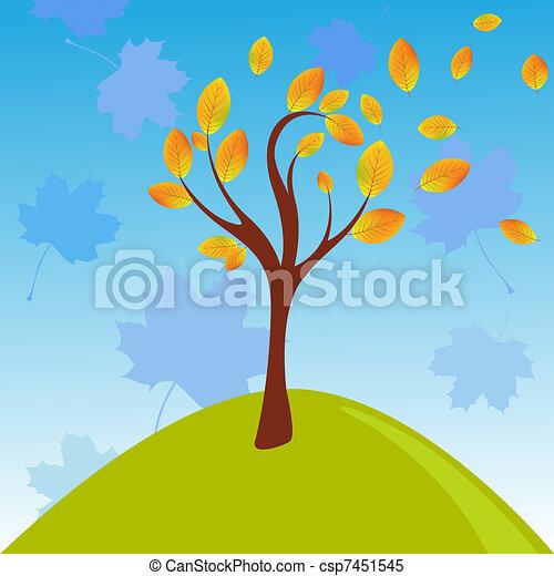 Autumn tree - csp7451545
