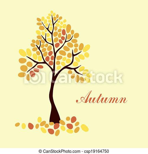Autumn tree, element for your design - csp19164750