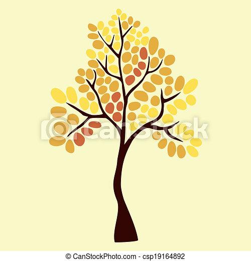 Autumn tree, element for your design - csp19164892