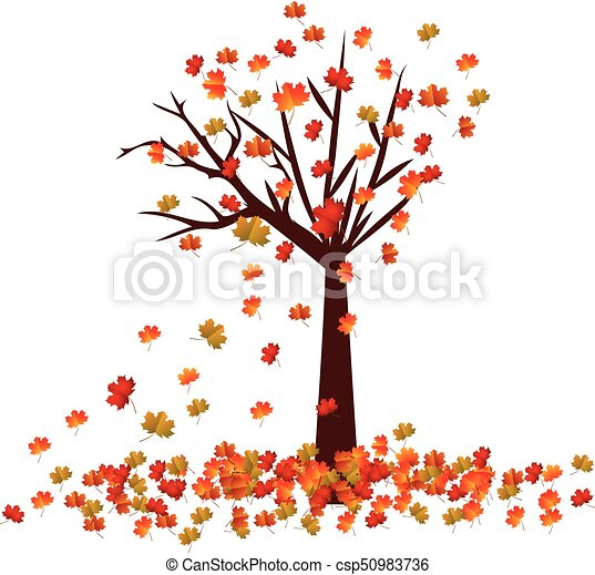 Autumn Tree Fall Leaves Background