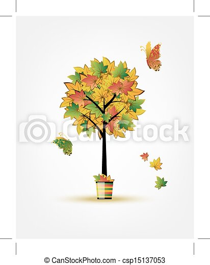 Autumn tree for your design - csp15137053
