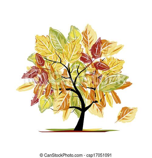 Autumn tree for your design - csp17051091