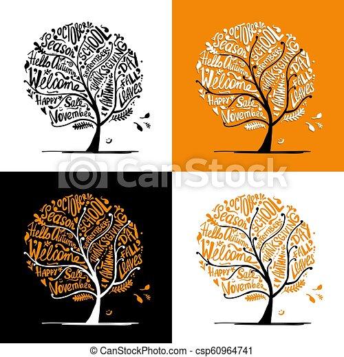 Autumn tree for your design - csp60964741