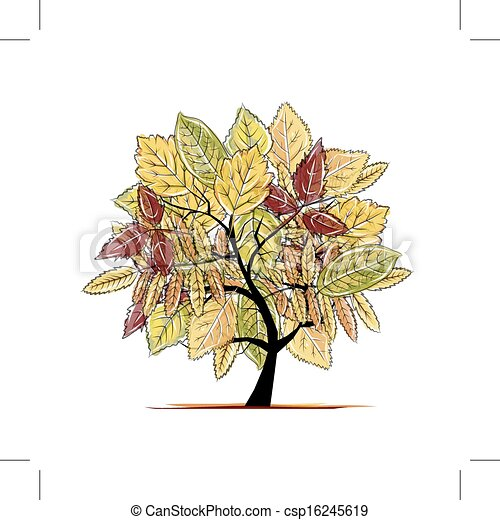 Autumn tree for your design - csp16245619