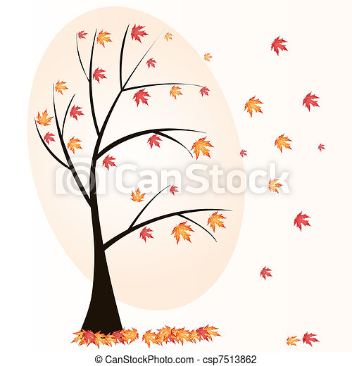 autumn tree - csp7513862