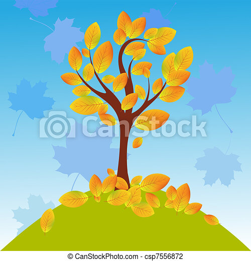 Autumn tree - csp7556872
