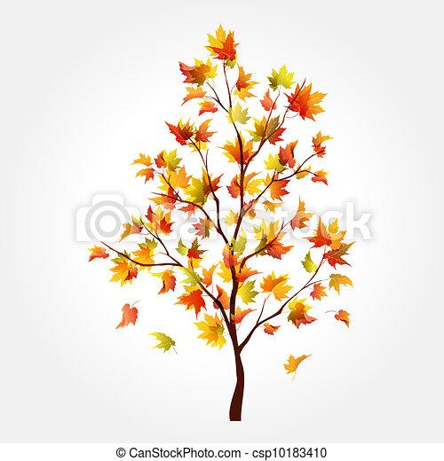 Autumn tree. Maple - csp10183410