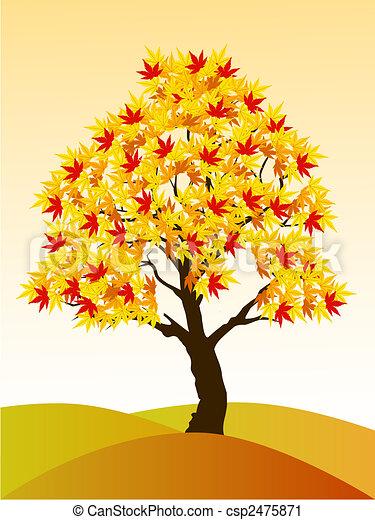 Autumn tree - csp2475871