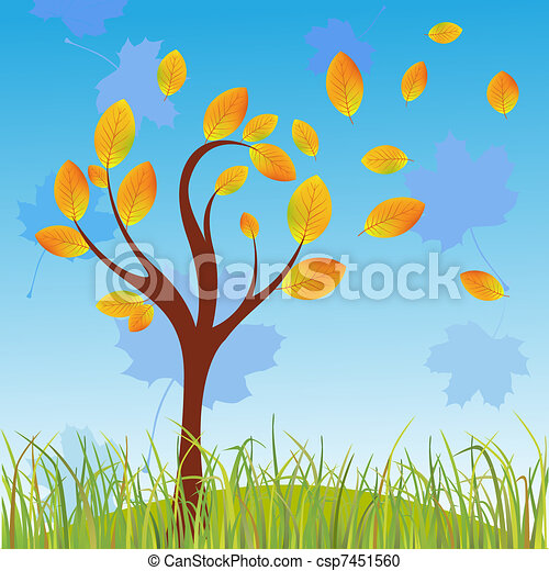 Autumn tree - csp7451560