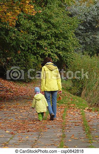 Autumn walk - csp0842818