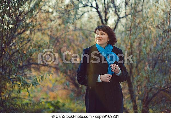 Autumn walk - csp39169281