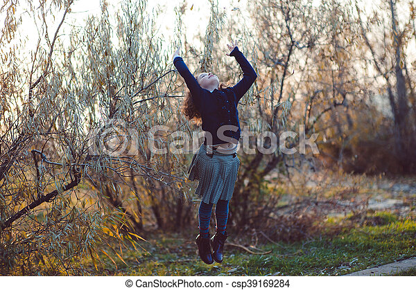 Autumn walk - csp39169284