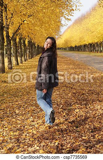 autumn walk - csp7735569