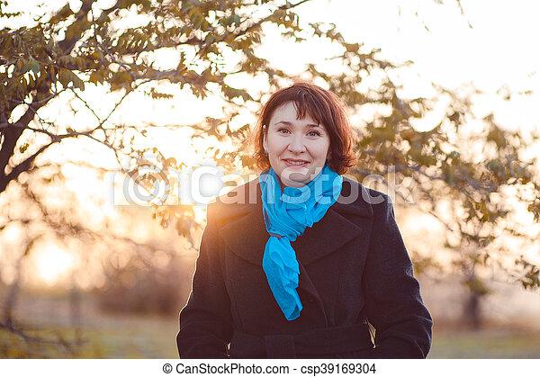 Autumn walk - csp39169304