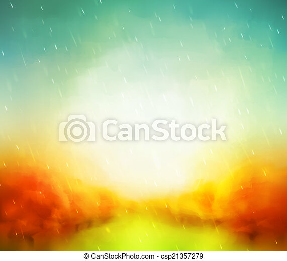 Autumn Watercolor - csp21357279