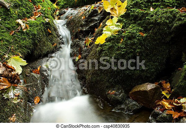 autumn waterfall - csp40830935