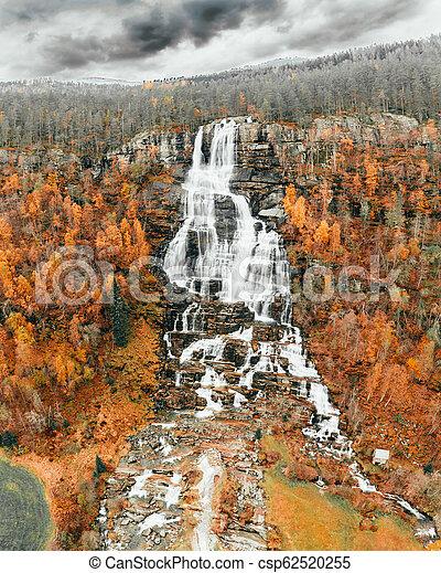 Autumn Waterfalls Rivers in Norway - csp62520255
