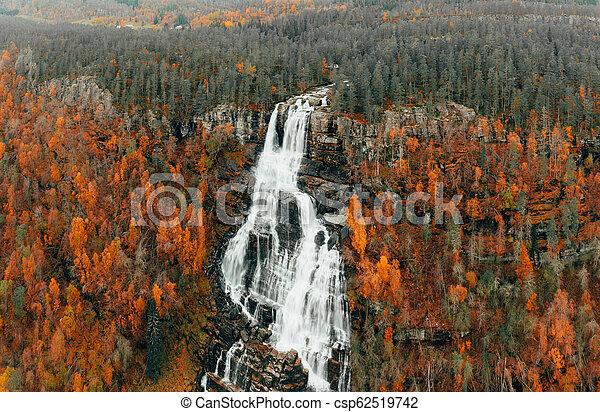 Autumn Waterfalls Rivers in Norway - csp62519742
