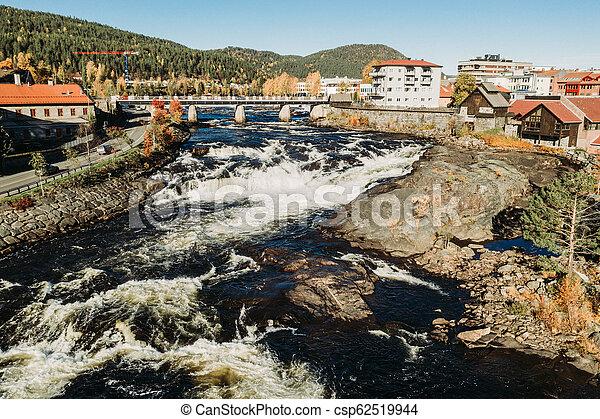 Autumn Waterfalls Rivers in Norway - csp62519944
