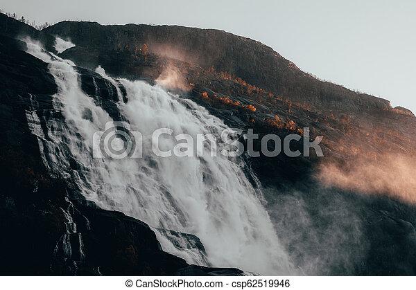 Autumn Waterfalls Rivers in Norway - csp62519946