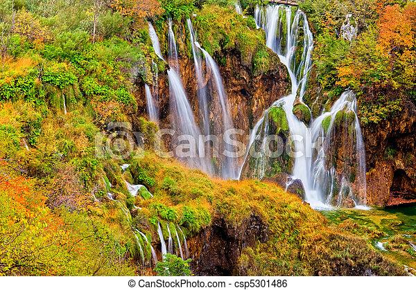 Autumn Waterfalls - csp5301486