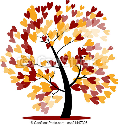 Autumn wedding tree - csp21447306
