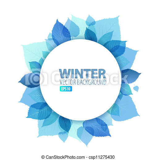 Autumn / winter abstract floral background  - csp11275430