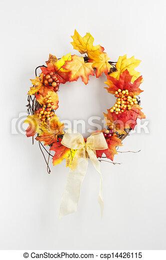 Autumn wreath - csp14426115