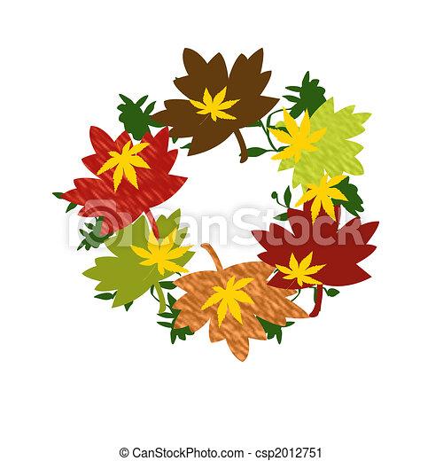 autumn wreath - csp2012751