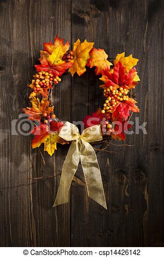 Autumn wreath  - csp14426142