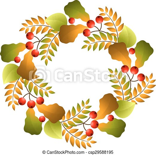 Autumn wreath - csp29588195