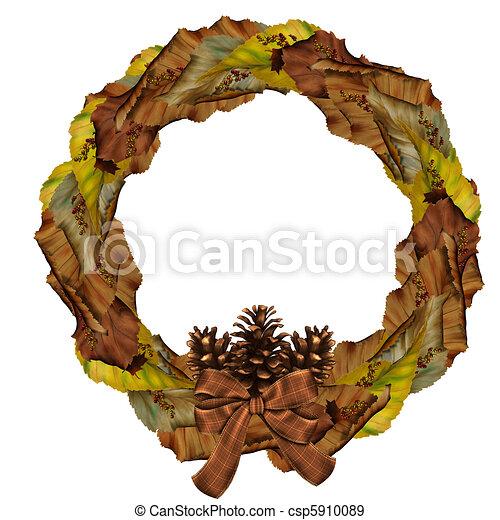 Autumn Wreath - csp5910089