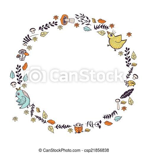 Autumn Wreath - csp21856838