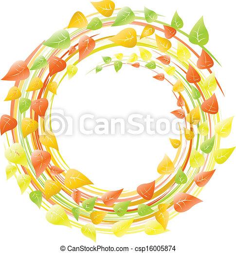 autumn wreath - csp16005874