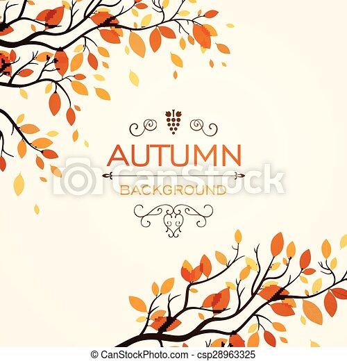 Autumnal Design - csp28963325