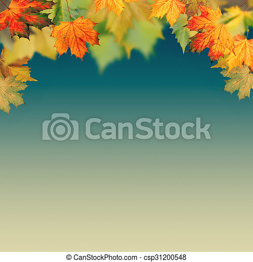 Autumnal haze, abstract environmental backgrounds - csp31200548